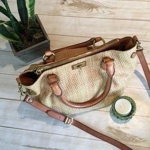 J CREW Brompton hobo in woven straw